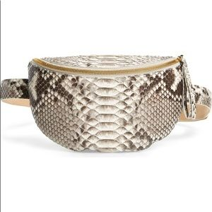 NWT NANCY GONZALEZ Lola Genuine Python Belt Bag 💼